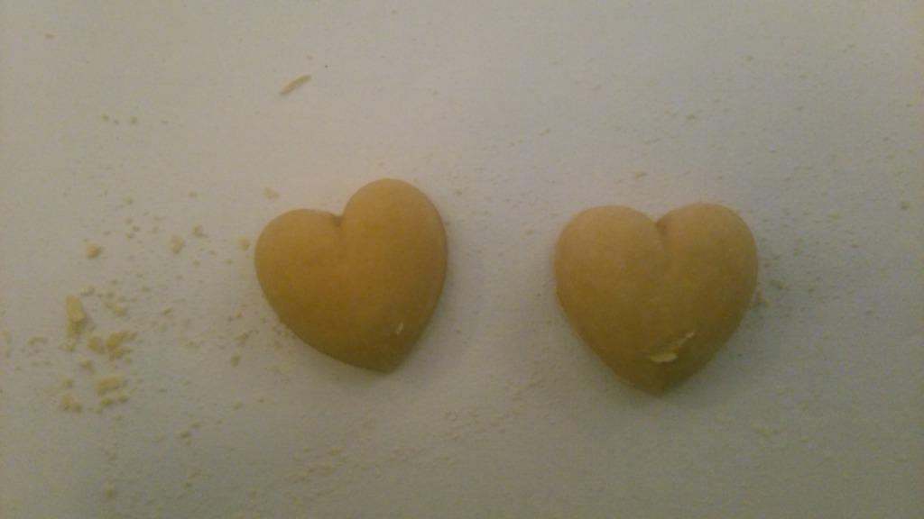 ハート型の和三盆干菓子
