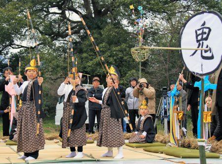 大俣八幡神社の御的射