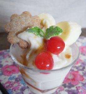 豆乳アイスパフェ