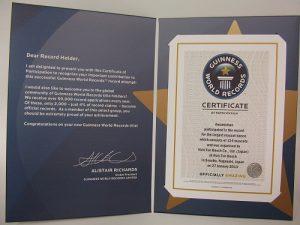 ギネス認定書の写真