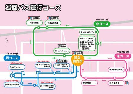 巡回バス運行コースマップ